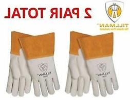 Tillman 1350 Pearl Top Grain Cowhide MIG Welders Gloves 2 PA
