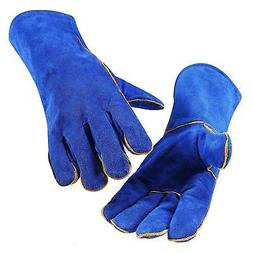 14 Inch Leather Welding Gloves For Tig Welders/Mig/Fireplace