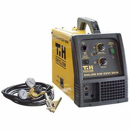 HIT 140 Amp MIG 120V Welder Includes Gas Hose, Regulator, 10