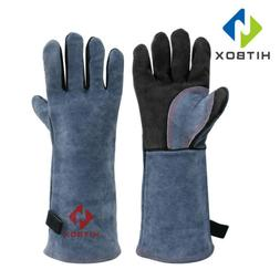 16 Inch Leather Welding Gloves For Tig Welders/Mig/Fireplace
