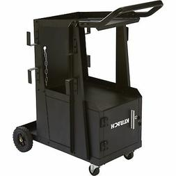 Klutch 2-Tier Welding Cart w/Locking Cabinet- 27 1/4inL x 18