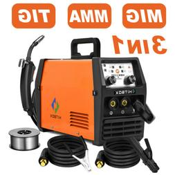 HITBOX 3 in1 MIG Welder 110V 220V Gasless Inverter Lift TIG