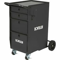 Klutch 4-Drawer Welding Cabinet - 25 1/2in.L x 20 1/2in.W x