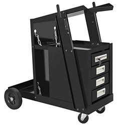 ZENY 4-Drawer Welding Cart Cabinet Mig Tig Arc Plasma Welder