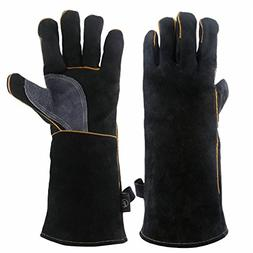 KIM YUAN Extreme Heat & Fire Resistant Gloves Leather with K