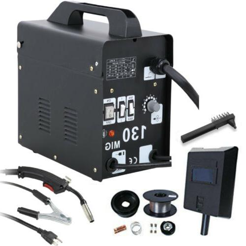 130 mig welder electric automatic feed gas