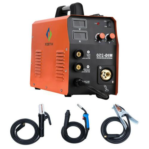 HITBOX 3in 1 220V MIG Welder ARC Gas Gasless Stick Lift TIG