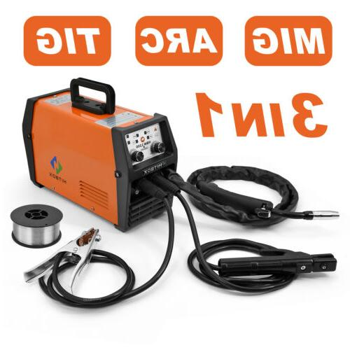 HITBOX 3in1 MIG Welder Inverter 220V LIFT TIG ARC Wire Gasle