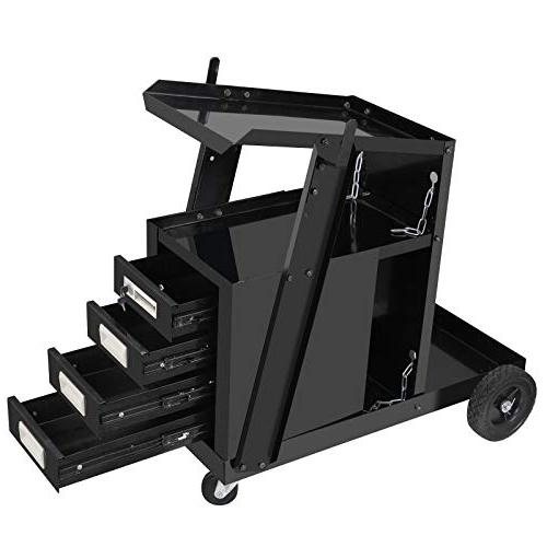 ZENY Welding Cart ARC Welding w/2 Chains 100 LB Capacity