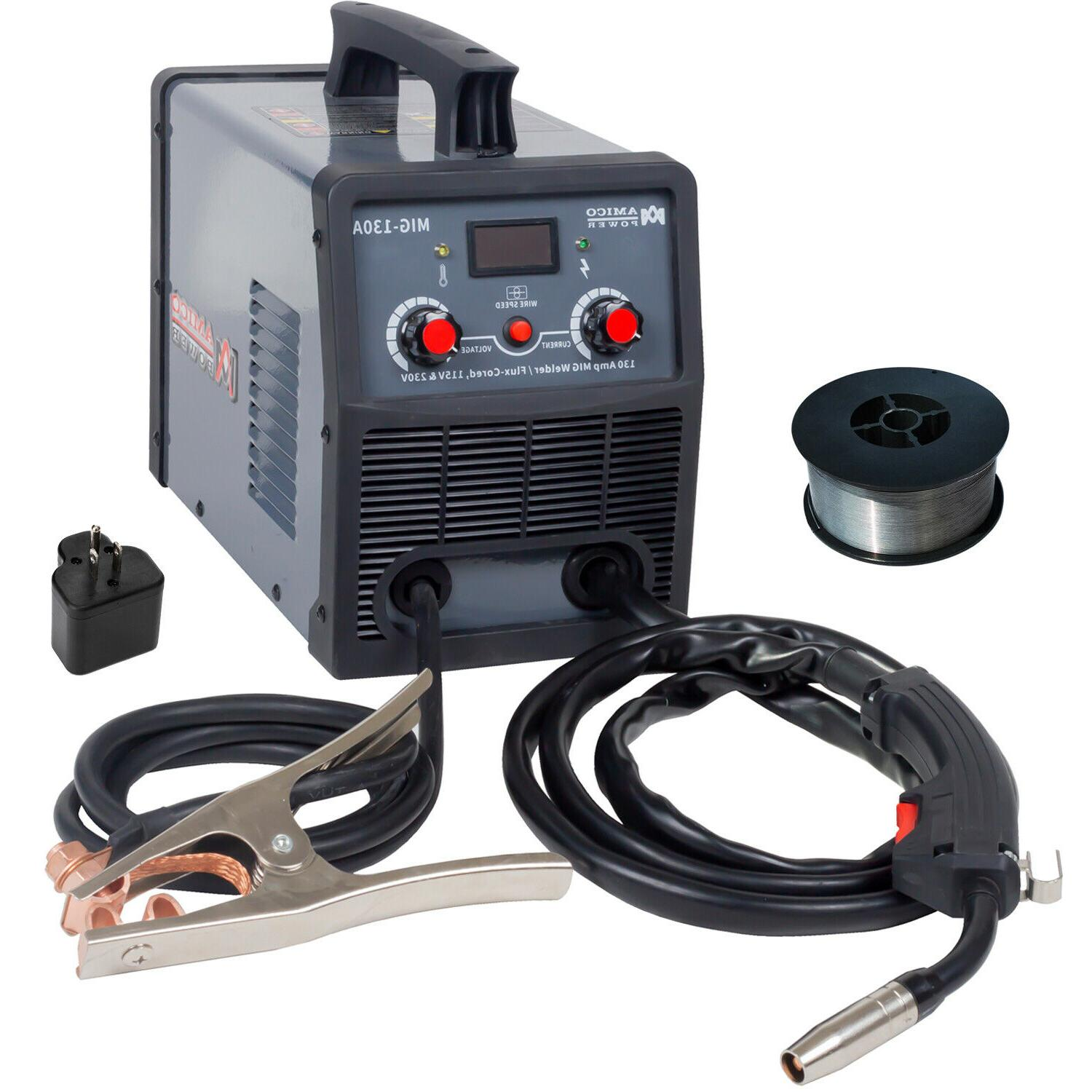 Amico MIG-130A, Amp Flux Core Gasless Welder, 115/230V Dual