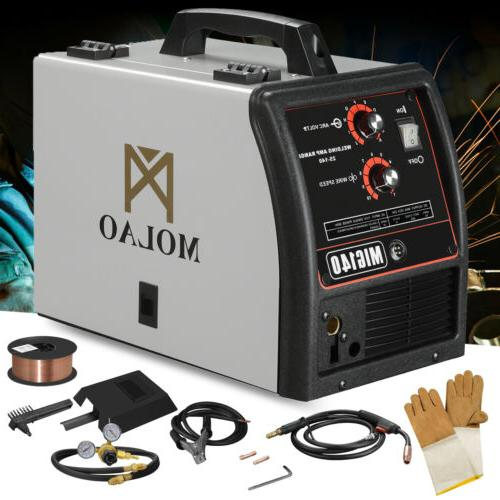 140 MIG Welder DC Flux Core Automatic Feed Welding 115V