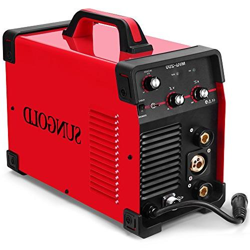 SUNGOLDPOWER MAG Dual Voltage IGBT Inverter Welding Shielded/Gasless Automatic Feed