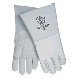 Pearl Gray 14 Top Grain Elk Cotton/Foam Lined Welders Gloves