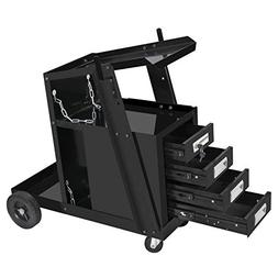 ZENY Portable 4 Drawers Welding Welder Cart MIG TIG ARC Plas