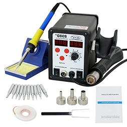 ZENY 2in1 SMD Rework Soldering Station 898D+ Hot Air Welder