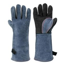 HITBOX TIG Welding Gloves BBQ Heat Resistant Lined Leather f