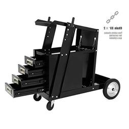 XtremePower Universal Welder Cart with 4 Drawer Sliding Cabi