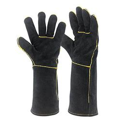 Welding Gloves HEAT RESISTANT Cow Split Leather BBQ/Camping/