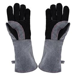 Welding Gloves Lined Leather Extreme Heat Resistant Double I