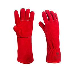 Luiswell Welding Gloves, Heat & Fire Resistant Leather Grill
